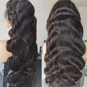 Image 4 - Rosabeauty 28 30 אינץ 13x4 תחרה מול שיער טבעי פאות 180 צפיפות ברזילאי גוף גל פרונטאלית פאה שחור נשים מראש קטף