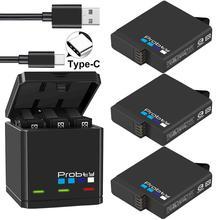 Originele Probty Voor Gopro Hero 7 Hero 6 Hero 5 Zwart Batterij Of Triple Oplader Voor Go Pro Hero7 6 Hero5 Zwart camera Batterij