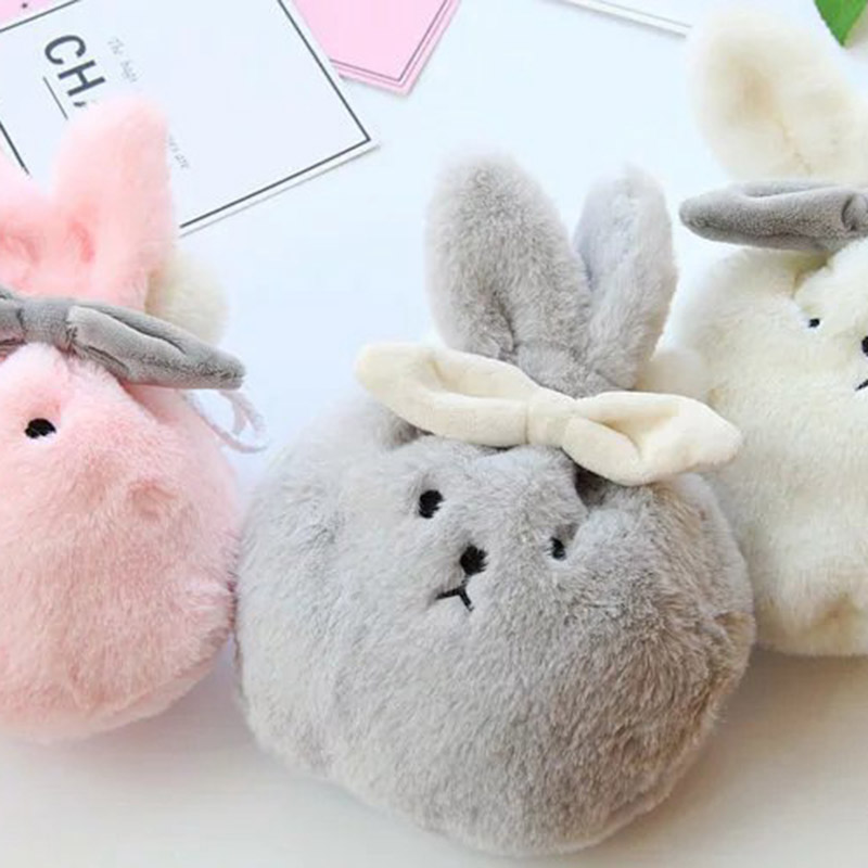 Kawaii Portable Plush Rabbit Box Makeup Cosmetic Bag Drawstring Toiletry Case C55