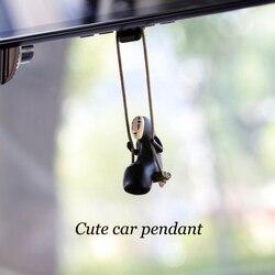 Car Pendant Ornaments Anime Warm Heart Cute Faceless Man Auto Accessories Interior Rearview Mirror Decoration Hanging Pendants