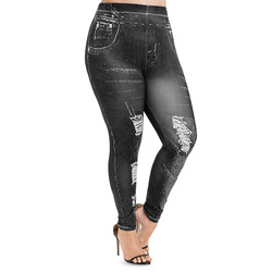 Модные женские леггинсы размера плюс, обтягивающие леггинсы с 3D графикой, эластичные леггинсы с высокой талией, узкие брюки-карандаш, женск...