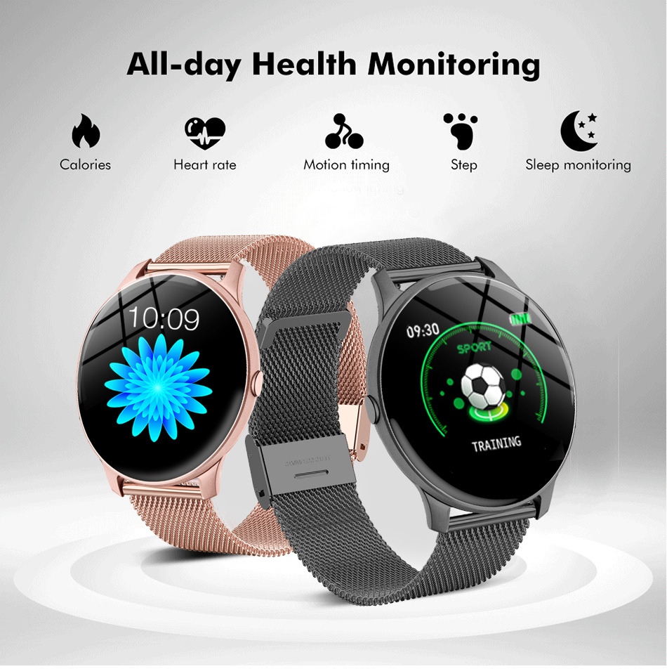lowest price LIGE 2020 New Steel band Color Screen Smart Watch Women Men Waterproof Sport Fitness watch Heart rate and blood pressure tracker
