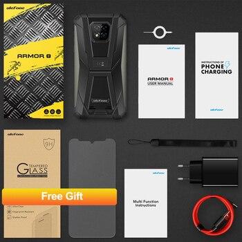 Ulefone Armor 8  Rugged Mobile Phone NFC Android 10 Helio P60 4GB+64GB 16MP Triple Camera Octa-core  6.1'' Waterproof Smartphone 6