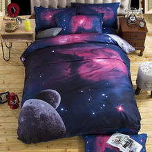 Bedding 3D Nebula Star 4 Piece Set Quilted Quilt Cover 2019 Bed Free Shipping(China)