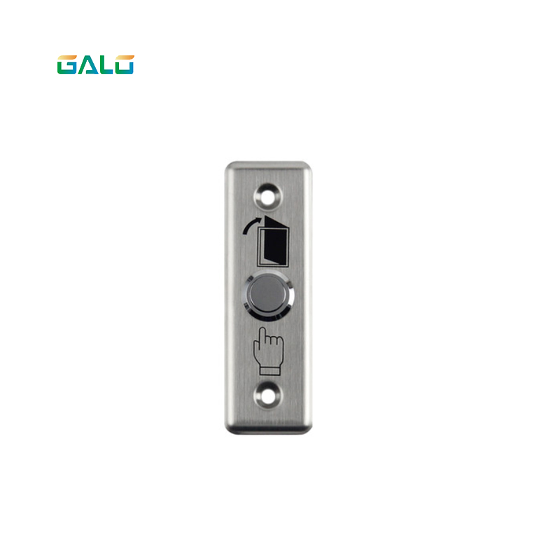 Stainless Steel Door Exit Button Switch With LED Blue Backlight Emergency Push Button Switch For Home Security