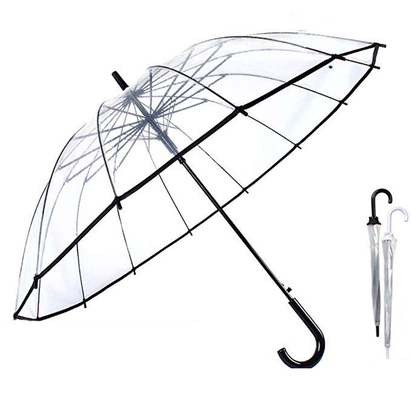 Dôme transparent Umbrella Canopy accessoire de mode Outdoor Rain Protect Water Proof