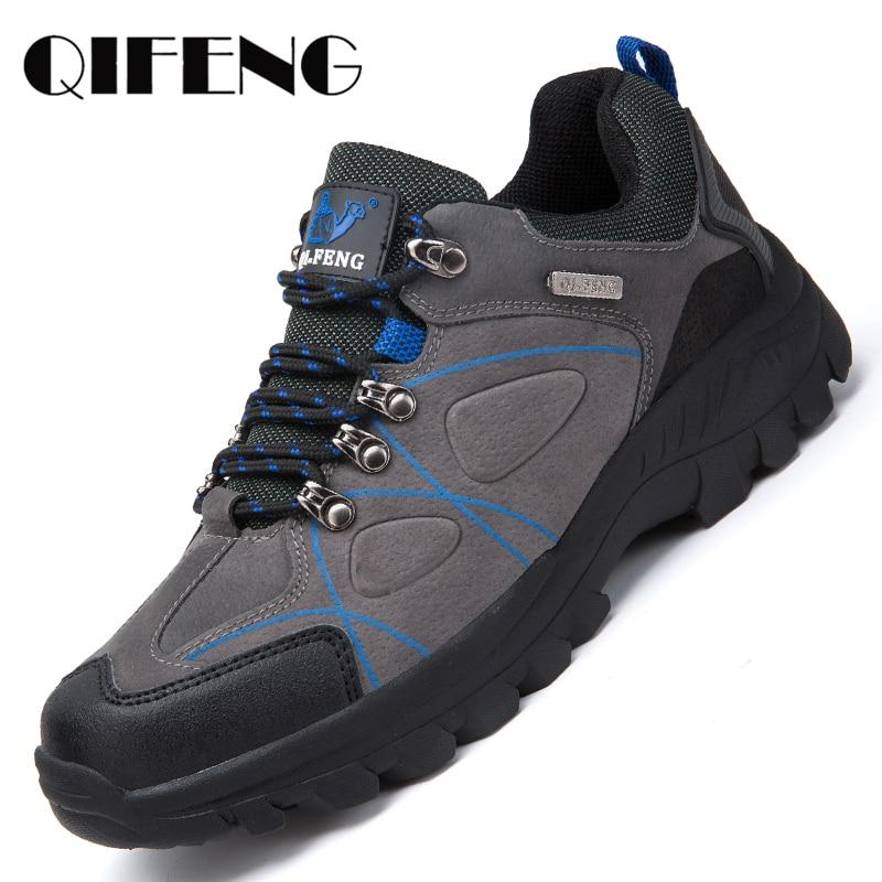 Сезон осень; классические Повседневная Мужская обувь Для мужчин замшевые Пеший Туризм обувь для бега светильник спортивная обувь Новые