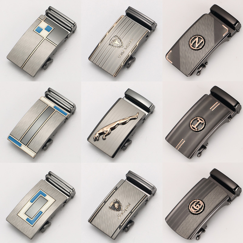 Genuine Product Men Belt Buckle Belt Buckle Casual Belt Head Business Accessories Automatic Buckle Wide-3.5 Cm