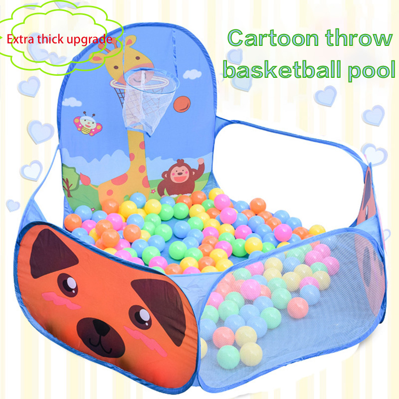 Portable Baby Playpen Early Education Tent Folding Wave Ball Pool Sea Game Room And Baby Pool 100pcs Colorful Balls 6CM