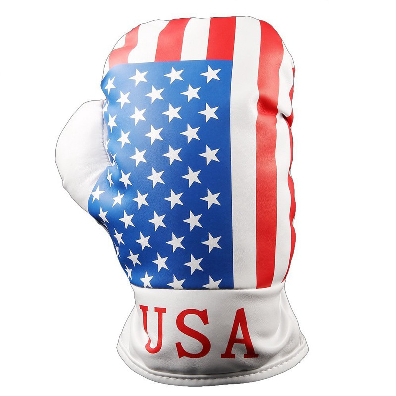 United States  Jack Flag Golf Boxing Racing Driver Head Covers For Golf Driver Fairway Wood Free Shipping