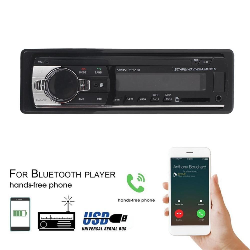 JSD-520 автомобильное радио стерео музыкальный плеер телефон MP3 Пульт дистанционного управления 12 в автомобильное аудио Автомобильное музыка...