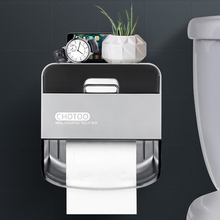 Rack Paper-Holder Tissue-Box-Storage Bathroom Toilet Waterproof Wall-Mount Home Double-Layer