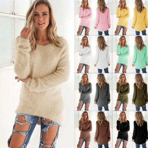 Plue Size Women Sweaters Pullovers Casual Autumn Winter Long Sleeve Solid Pullover Female Casual Women Tops Knitted Sweater