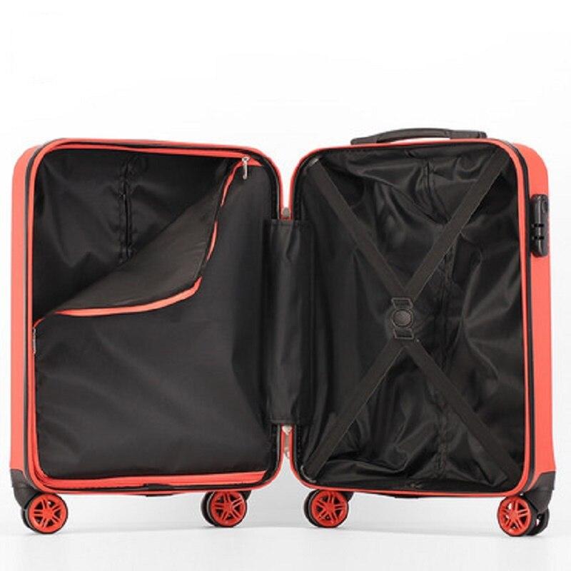 CHENGZHI mode haute qualité 20 24 26 pouces ABS + PC roulant bagages Spinner couleur Pure valise de voyage sur roues - 4