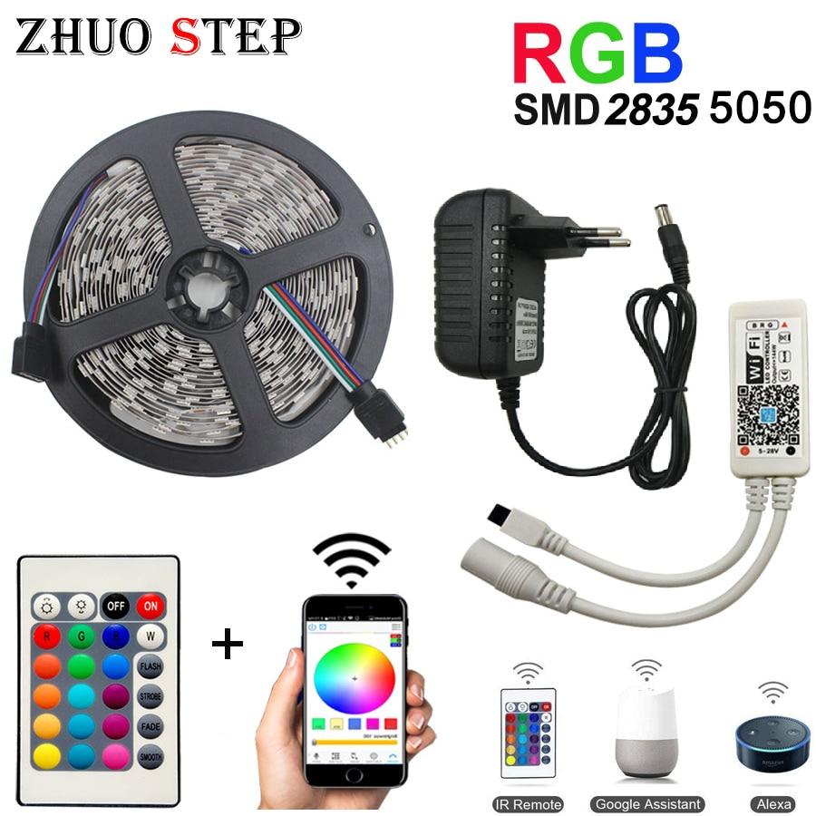 WiFi Led Strip Light SMD 5050 60led 2835 RGB Led Stripe DiodeTape DC12V Flexible RGB LED Strip Ribbon Diode With WiFi Controller