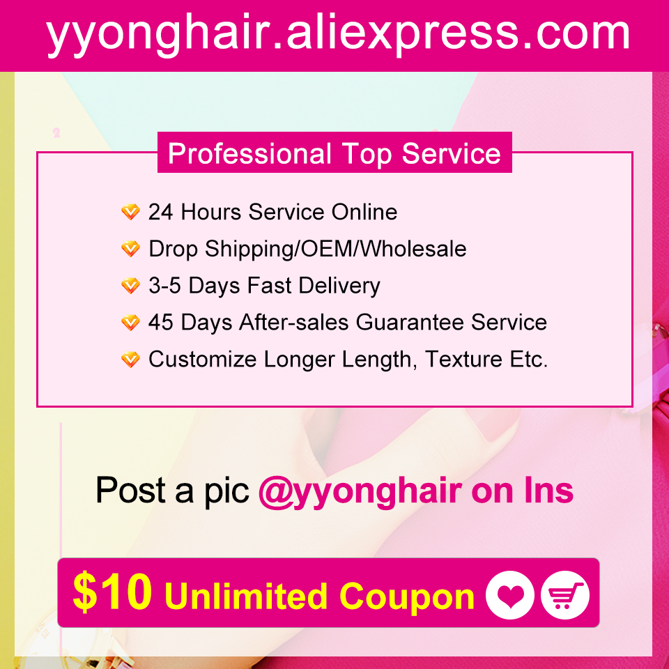 Yyong Hair 3/4  Deep Wave Bundles With Frontal 100%   Bundles With 13x4 Lace Frontal Can Be Dyed 6