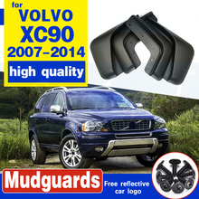 For VOLVO XC90 2007-2014 Mudflaps 2008 2009 2010 2011 2012 2013 Front Rear Car Mud Flaps Splash Guards Mud Flap Mudguards Fender 4pcs mud flaps for dfm dongfeng succe 2010 2011 2012 2013 2014 2015 mudflaps mudflap splash guards fender mudguards front rear