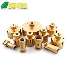 DIATOOL 1pc Diamond Vacuum Brazed Drilling Core Bits With M14 Connection Drill Bits Hole Saw 15MM Diamond Height(China)