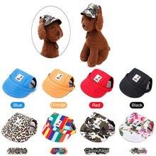 Регулируемая летняя шапка для собак дышащая бейсболка с отверстиями