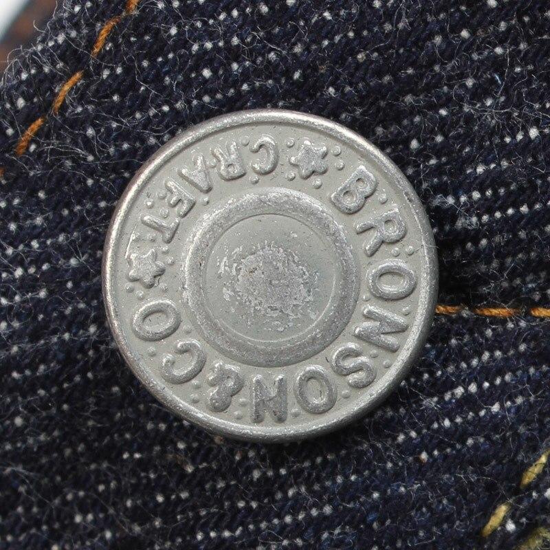 801XX Bronson 15oz Indigo Selvage Sanforised Mens Indigo Selvage Washed Redline Raw Denim Jean