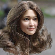 В sotck 1/6 весы kumik km18 29 Женская длинная голова для волос