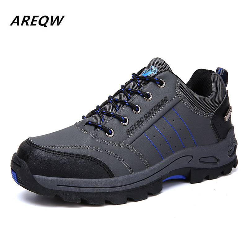 Snow Boots Men 2019 Fashion Safety Shoes Anti-slip Anti-smashing Men Work Boots Safety Boots Men Winter Boots Shoes