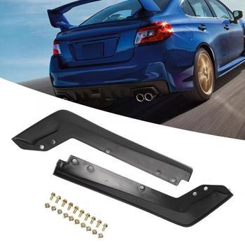 2 sztuk samochodów tylne Spat powrót rogu płyta narożna pasuje do Subaru 2015 2016 WRX STi zestawy karoseryjne tanie i dobre opinie VGEBY 10cm plastic Car Accessory Rear Bumper Spat 688g Car Spat Outside Spat Fit for Subaru 2015-2016 WRX STi