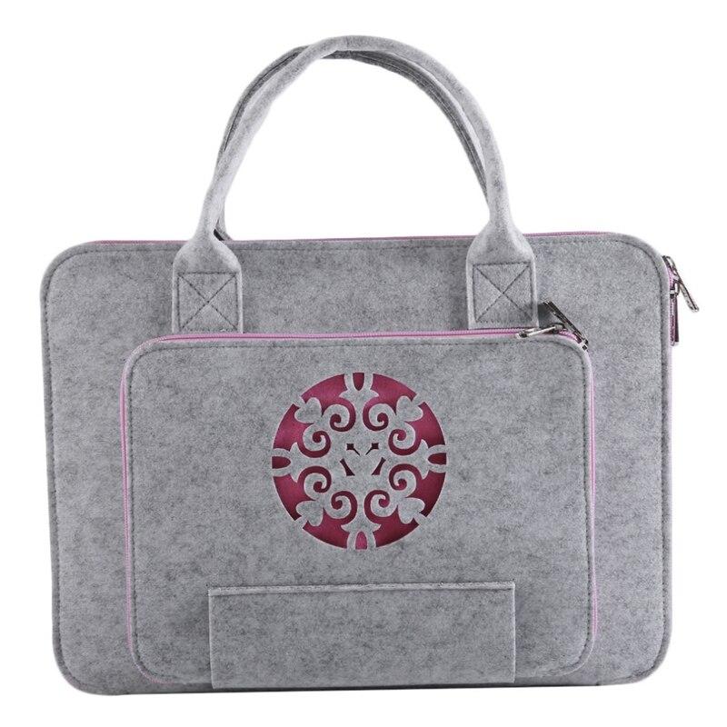 Super Light Carved Wool Felt Laptop Bag For Macbook Lenovo Dell Hp Asus Computer Bag Notebook Case