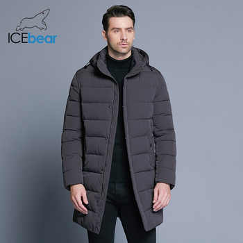 ICEbear 2019 Winter Jacket Men Hat Detachable Warm Coat Causal Parkas Cotton Padded Winter Jacket Men Clothing MWD18821D - DISCOUNT ITEM  77% OFF All Category