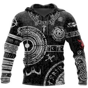 Hooded Sweatshirt Tattoo Viking Odin 3d-Printed Autumn Harajuku Fashion Hombre Unisex