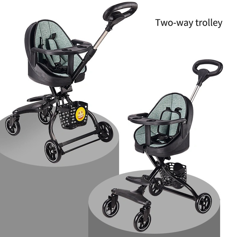 2021 new Baby Stroller ultra light folding can sit Children Trolley High Landscape simple comfortable stable stroller