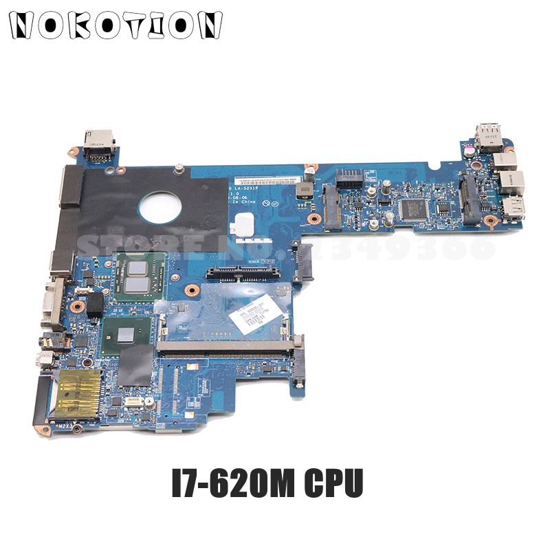 NOKOTION 598765-001 MAIN BOARD For HP Elitebook 2540P Laptop Motherboard KAT10 LA-5251P I7-620M CPU DDR3