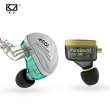 KZ auriculares AS12 de 12BA con control de la armadura, dispositivo deportivo de graves HIFI, con cancelación de ruido