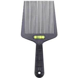 1Pc Pro Barber Shop Comb Brush Salon Hairdressing Tools Liu Hai Push Flat Head Tooth Comb Flat Toper Large Wide Fork Combs(China)