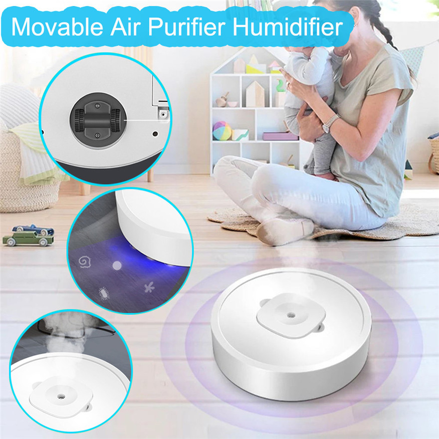 4 In 1 Mobile Air Purifier Humidifier Ultraviolet Disinfection Aromatherapy Machine Sprayer Indoor Disinfection And Purification