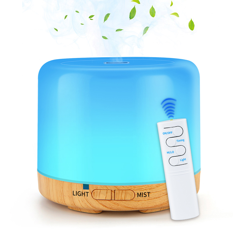 DEKAXI 200ml Remote Control Aroma Humidifier Air Purifier LED Options Ultra Quiet Design USB Air Humidifier For Home Office