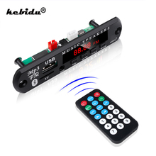 Kebidu Radio samochodowe zestaw głośnomówiący 5V 12V płyta dekodera Mp3 Panel Bluetooth 5.0 bezprzewodowy moduł FM karta TF 3.5mm USB AUX muzyka