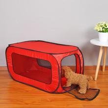 Тканевый домик для кошек из ткани Оксфорд, переносная Складная прямоугольная палатка для питомцев, клетка для собак, ограждение для детского Манежа, питомника для щенков, питомника, кошек, домашних животных, игровые палатки