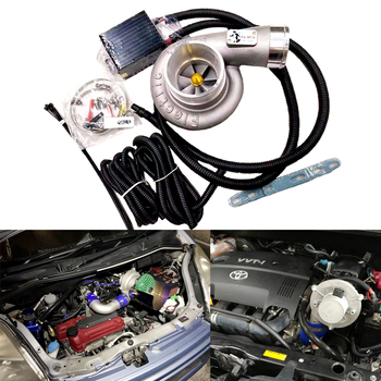 цена на Free fast shipping way Car Improve Speed Fuel Saver Electric Turbo Supercharger Kit Air Filter Intake easy to install Universal