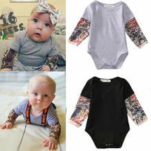 Осеннее хлопковое боди для новорожденных мальчиков одежда с