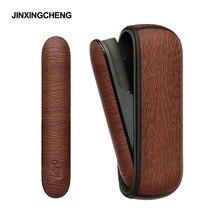 Чехол JINXINGCHENG в стиле дерева для iqos 3 duo, кожаный чехол s + боковой Чехол, аксессуары для iqos 3,0, чехол держатель для сумки