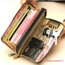 women's wallet double zipper female vrouwen echt lederen gen