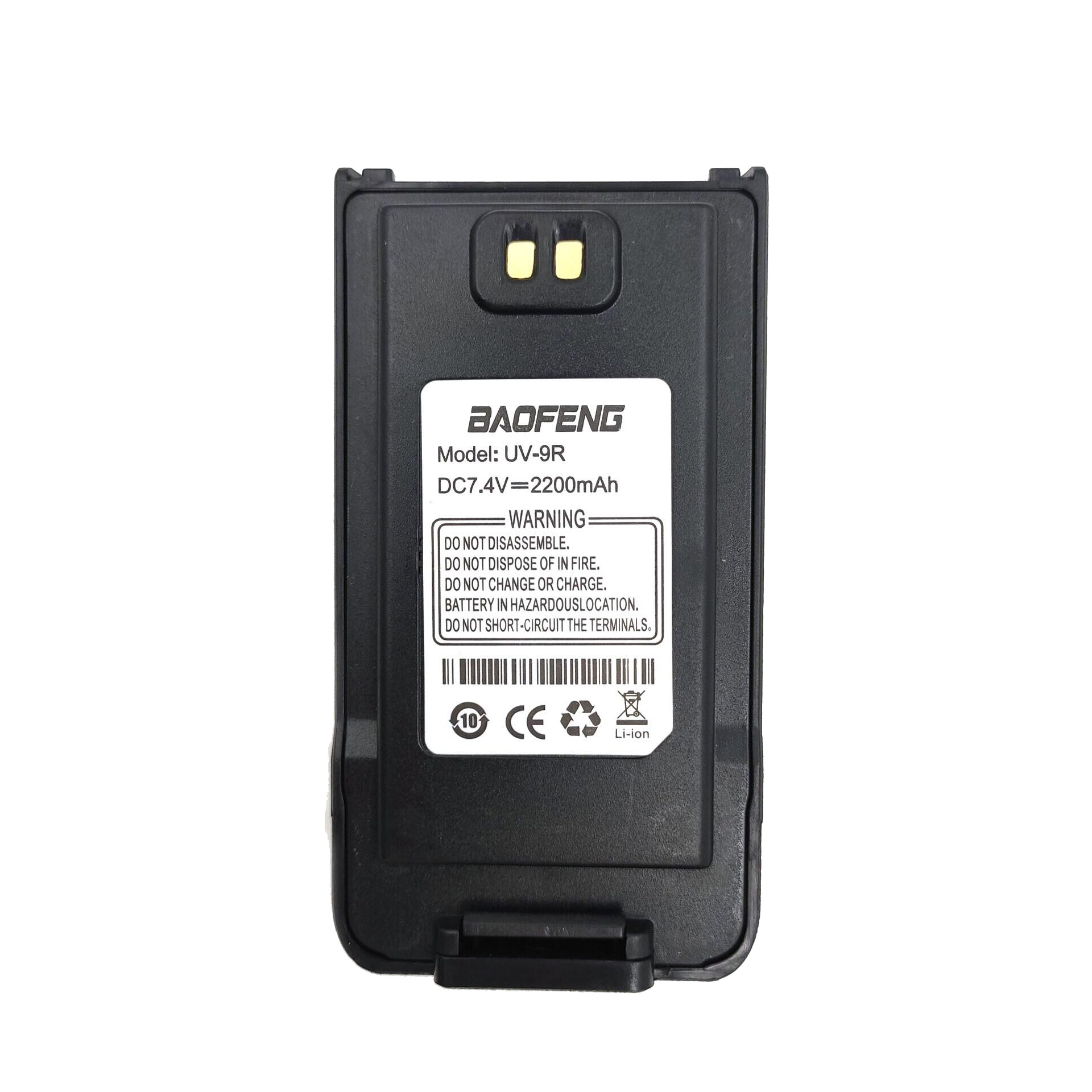 100% Original Li Ion Battery 7.4V 2200mah For Baofeng UV-9R Walkie Talkie Anysecu UV9R Ham Radio
