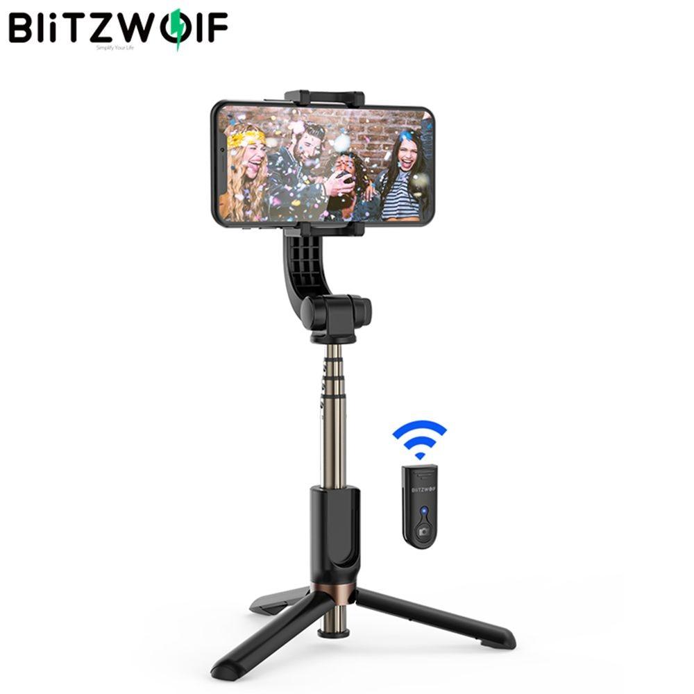 BlitzWolf BW-BS12 un-axe cardan stabilisateur bluetooth télécommande trépied avec Anti-secousse automatique Balance cardan trépied