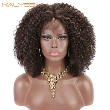 Kalyss 8 inches Short Synthetic Lace Front Wigs for Black Women Kinky Curly Lace