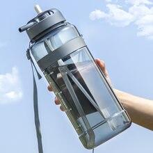 1000 Ml 2000ml Garrafa De Água Potável para o Esporte Garrafa De Água com Palha Grande BPA Livre Garrafas Ao Ar Livre Grande Garrafa 1L 2L 3L