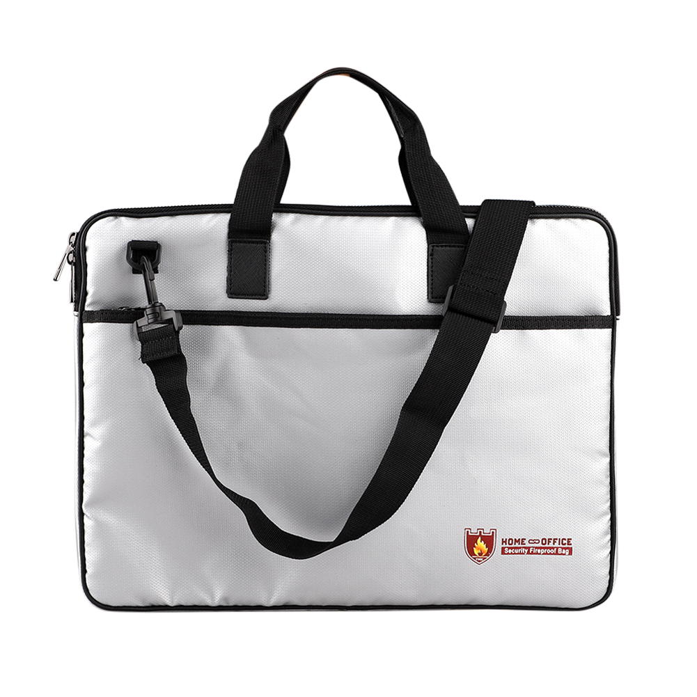 Office Fireproof File Document Bag Water Resistant Money Bills Storage Organizer With Strap Non-scratch Safe And Fire Resistant