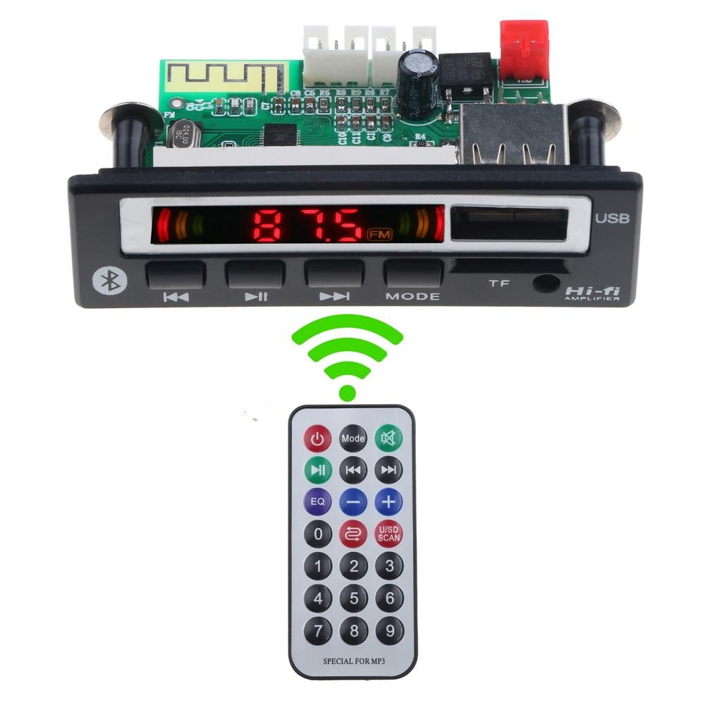 KEBIDU MP3 WMA WAV Decoder Board Bluetooth5.0 Wireless Audio Module 5V 12V Color Screen USB TF FM Radio For Car Accessories