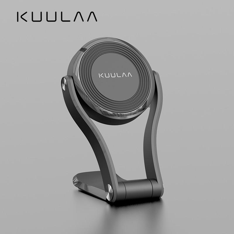 KUULAA Car Phone Holder Magnetic Folding Magnet Mobile Phone Car Holder For Cell Phone Car Mount Holder Universal