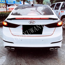 For Hyundai Elantra 2015 2016 2017 2018 LED LIGHT ABS Plastic Exterior Rear Spoiler Tail Trunk Boot Wing Decoration Car Styling(China)